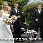 Complimentary champagne picnic